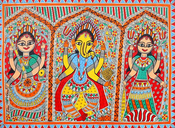 The Iconic Triad of Lakshmi, Ganesha and Saraswati