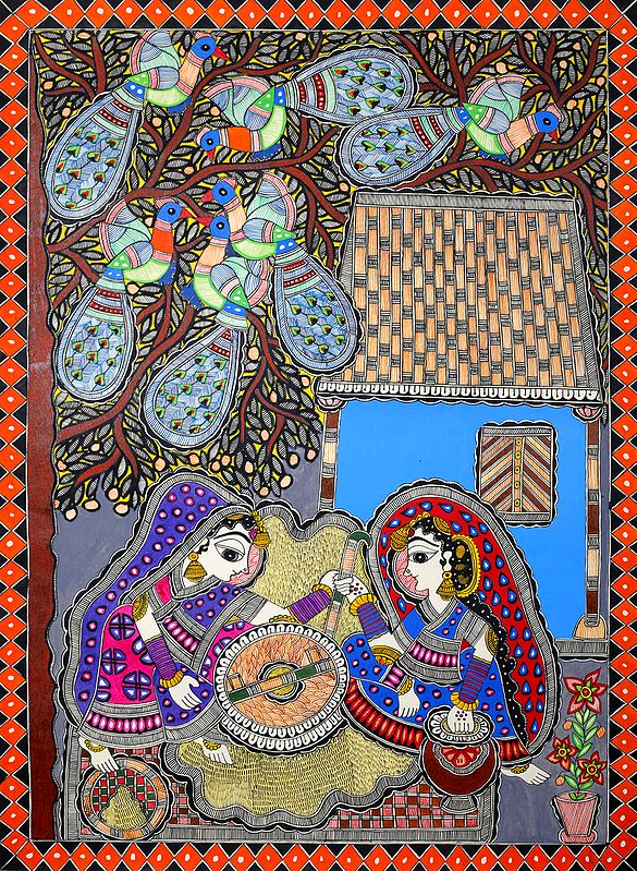 Women Grinding Flour with Traditional Hand Chakki