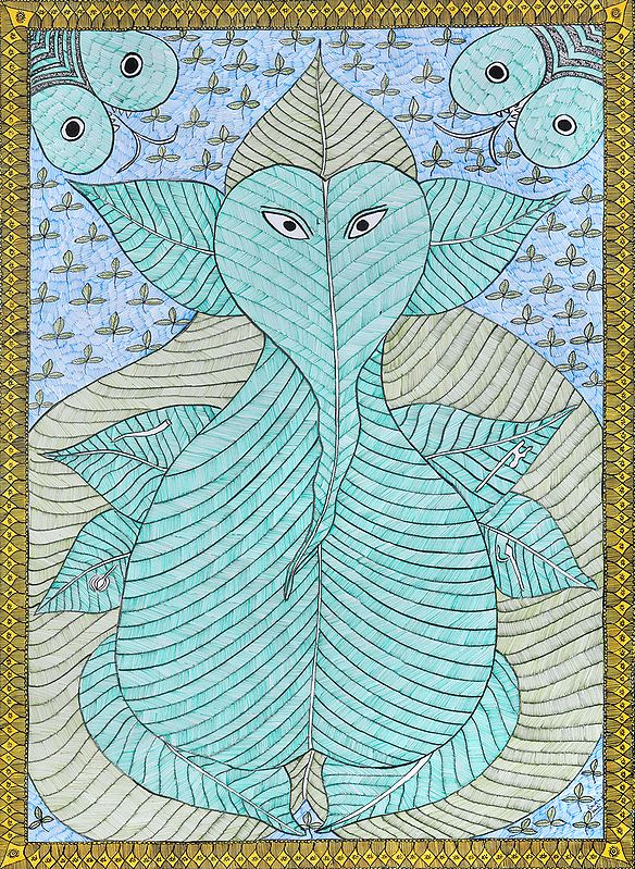 Ganesha Made of Pipal Leaves