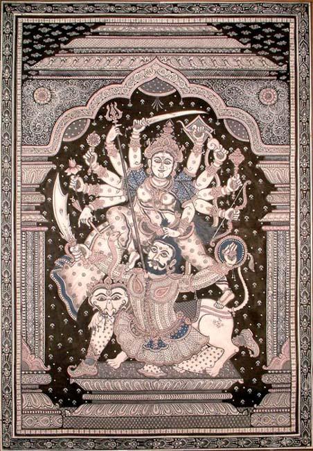 Goddess Durga as Mahishasur-mardini