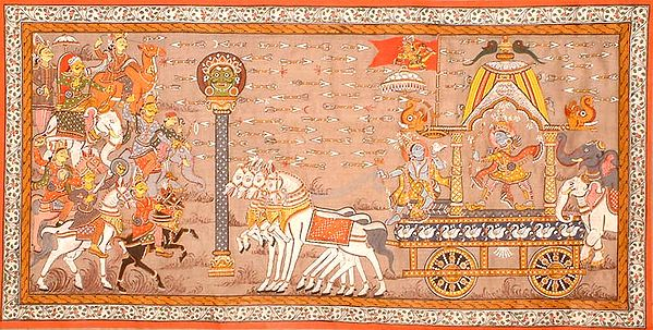 Gita Updesha on the Kurukshetra Battlefield