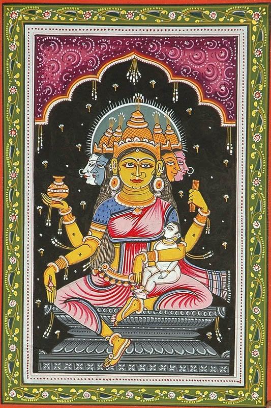 Goddess Gayatri (Shodash Matrikas)