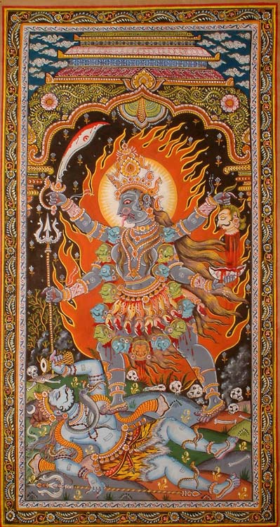 Goddess Kali in the Cremation Grounds