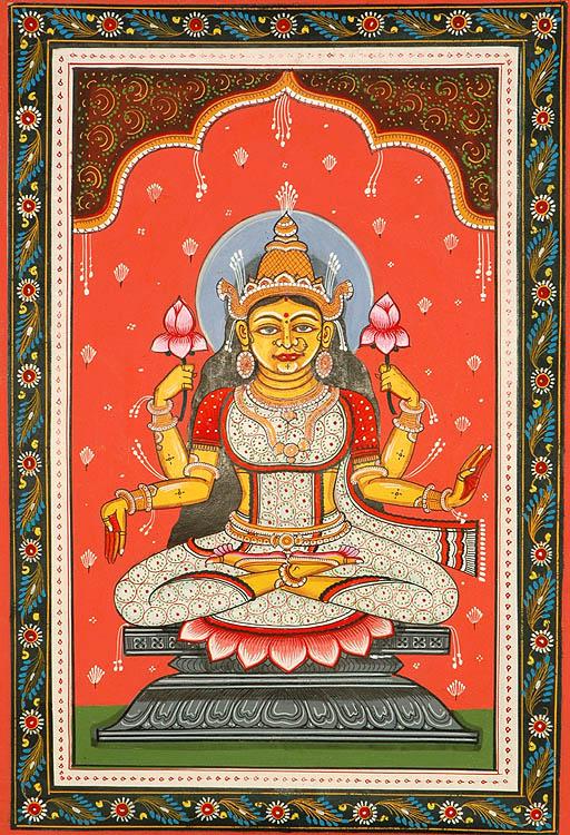 Goddess Kamala - The Lotus Goddess (Ten Mahavidyas)