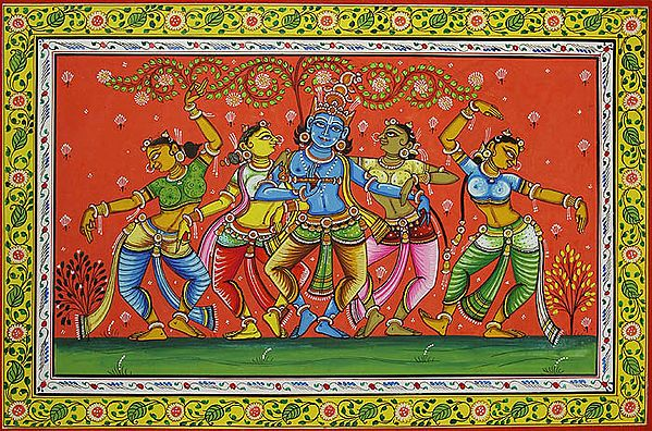 Krishna Dances with Gopis