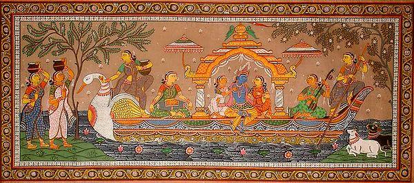 Krishna in the Boat of Love