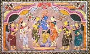 Krishna with his Female Friends