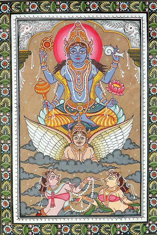 Lord Vishnu Sets out to Inspect the Universe