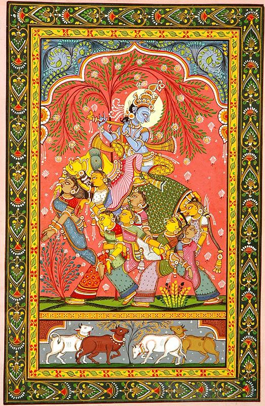Krishna Riding a Nari Kunjar
