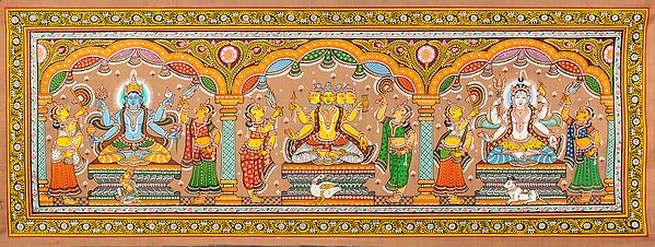 The Trinity of Brahma, Vishnu, and Mahesha