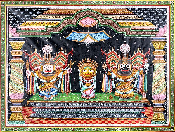 Jagannatha in Padma Shringara