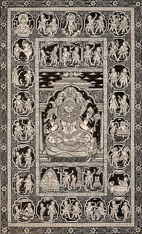 Vishnu as Narasimha with Prahlada