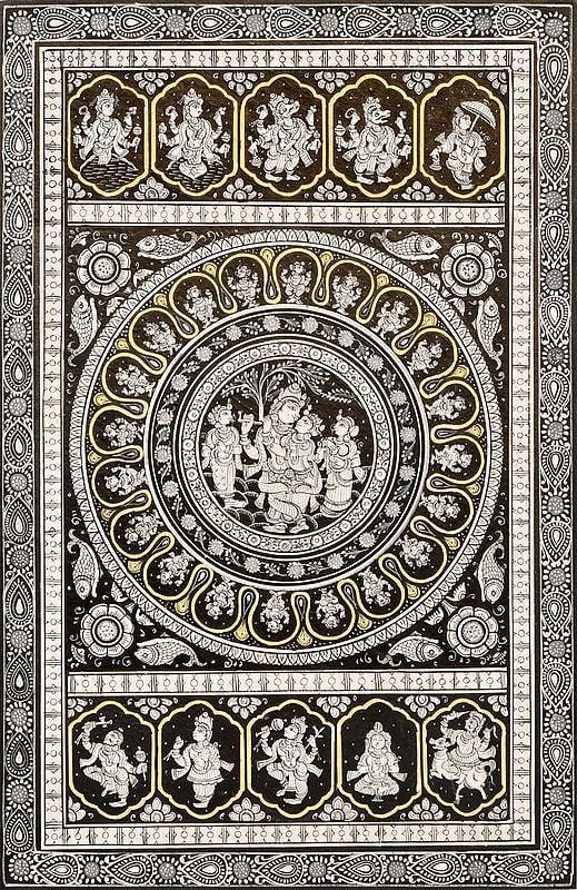 Krishna's Lila with Ten Incarnations of Lord Vishnu