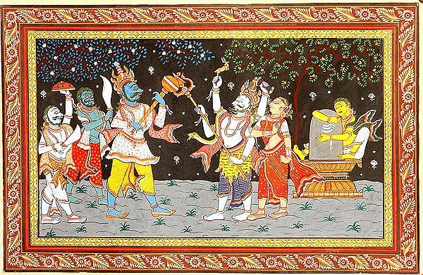 Shiva as Kalantaka Saves Rishi Markandeya