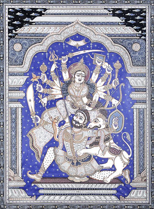 Ten-Armed Durga Killing Demon Mahishasura