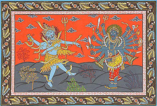Shiva and Virabhadra (Illustration to the Shiva Purana)