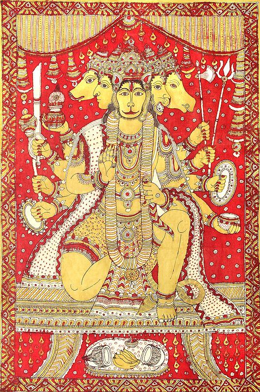 Ashtabhujadhari Pancamukha In Vatayanasana