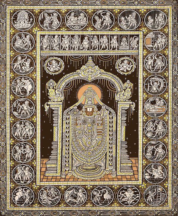 The Majesty Of Lord Venkateshvara, Replete With Dashavtara And Krishnalila