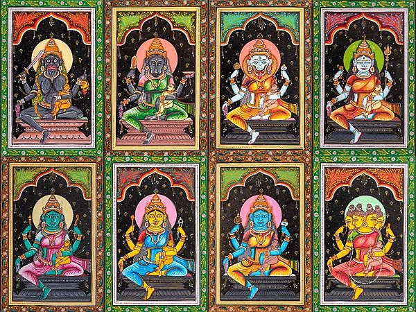 Ashta Matrikas (Set of Eight Paintings)