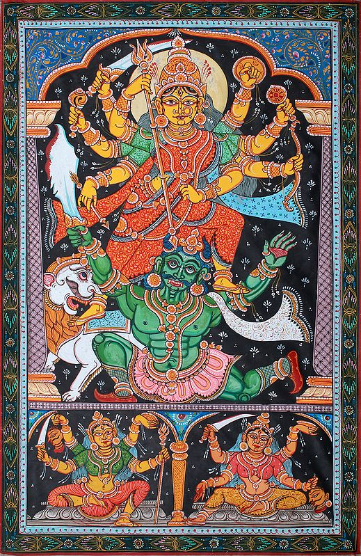 Mahishasura Meets His End At The Feet Of Devi Durga