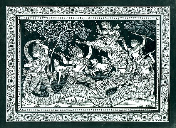 Krishna Killing the Demon Aghasura