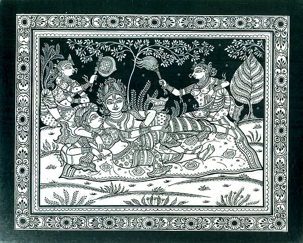 Lord Vishnu and Lakshmi Expressing their Loving Bond