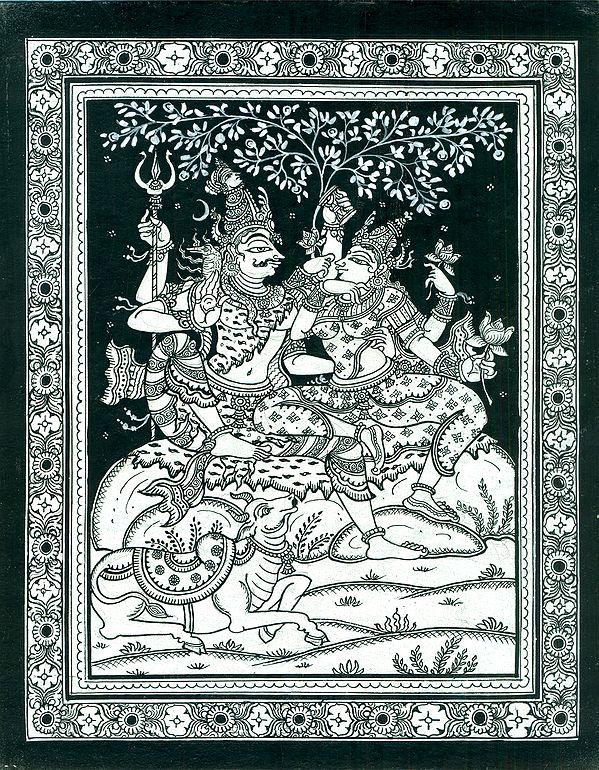Shiva Parvati on Mount Kailash