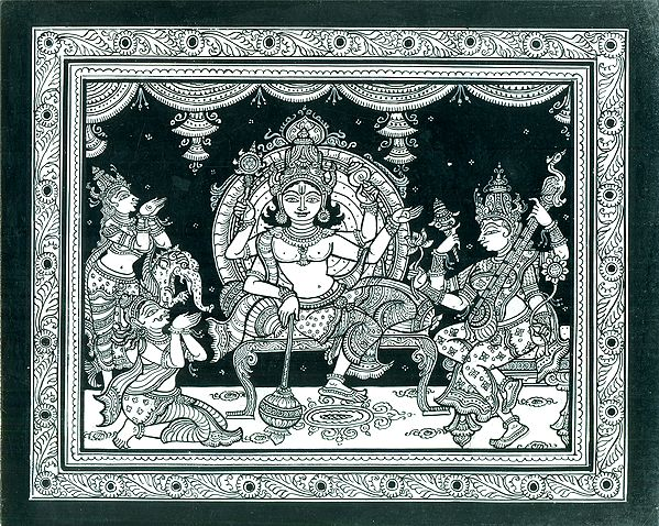 Veneration of Lord Vishnu and Goddess Saraswati