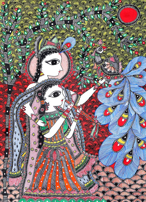 Divine Lovers Besotted By A Peacock