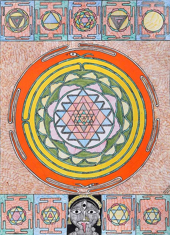Yantra of Shodashi with Nine Mahavidya Yantras