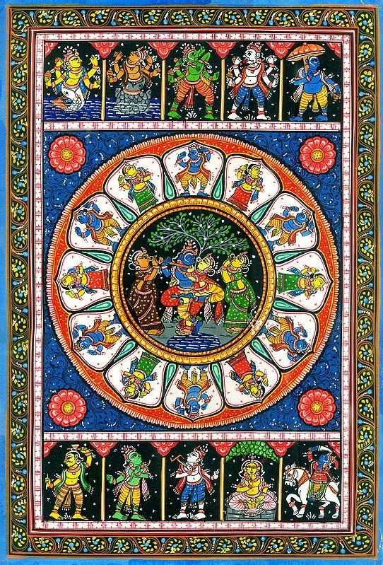 Ten Incarnations of Lord Vishnu (Dashavatar)