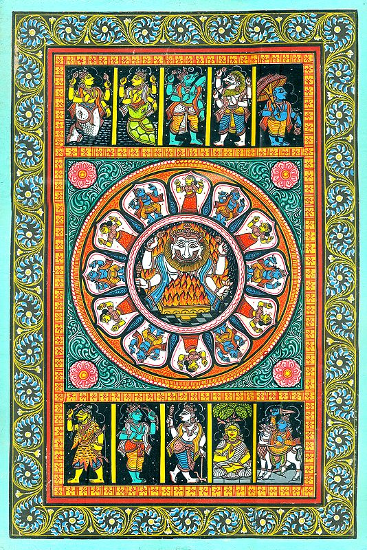 Dashavatar of Lord Narayana (Vishnu)