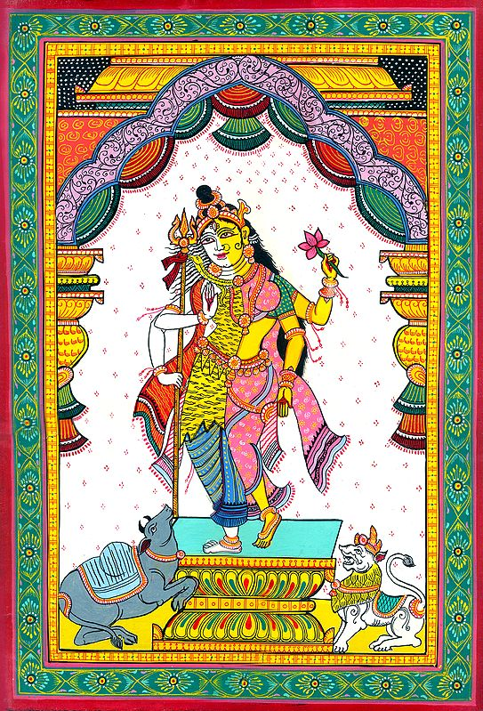 Lord Shiva in His Ardhanarishvara Form