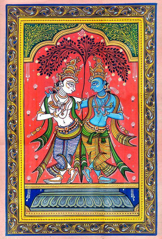 Harmonious Brothers, Krishna And Balarama