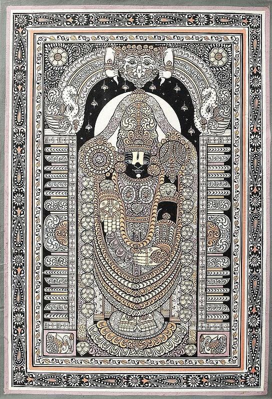Lord Venkateshwara with Kirtimukha