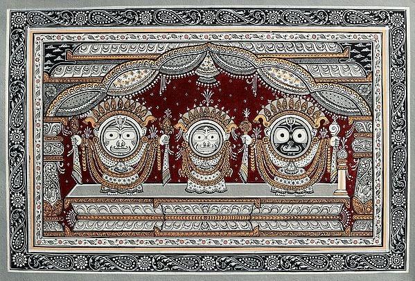 The Celestial Trinity of Jagannath (Balarama Subhadra and Krishna)