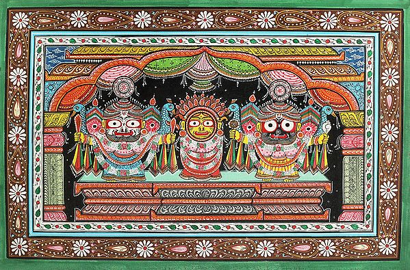 The Divine Jagannath Trinity (Krishna Subhadra and Balarama)
