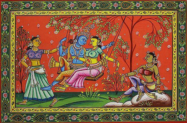 Radha Swings with Krishna