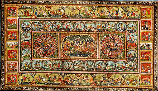 Rasa Mandala with the Life of Krishna Kanhaiya