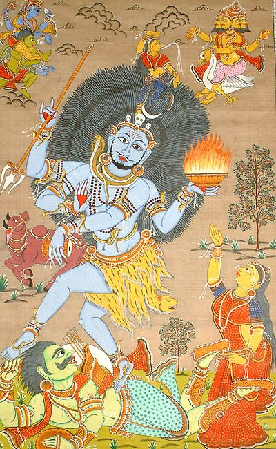 Rudra Tandava Venerated by Brahma and Vishnu