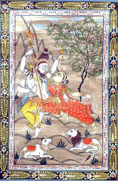 Shiva as Pashupatinath with Parvati