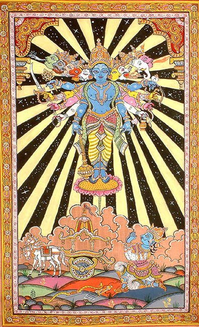 The Cosmic Form of Krishna (Vishvarupa from the Bhagavad Gita)