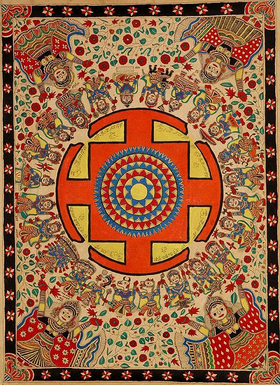 Yantra of Lord Vishnu with Twenty-Four Avataras