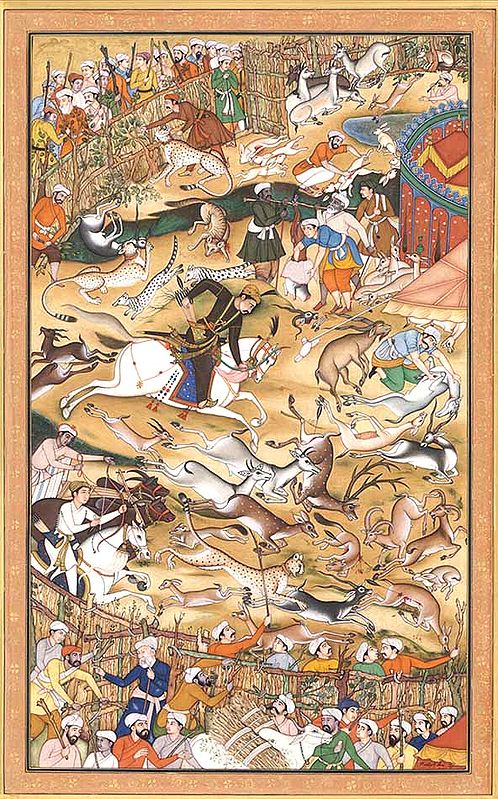 Akbar Hunting (folio from the Akbar-nama)