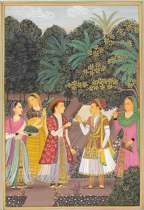 Jahangir with Nurjahan in Royal Garden
