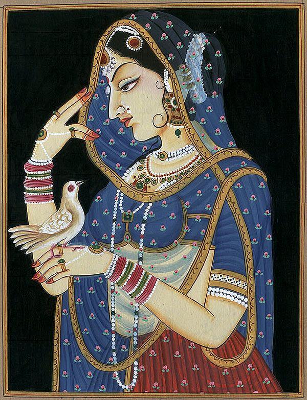 Lady Confides in Her Bird