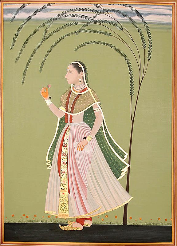 A Moment Of Inward Reminiscence Of A Mughal Princess