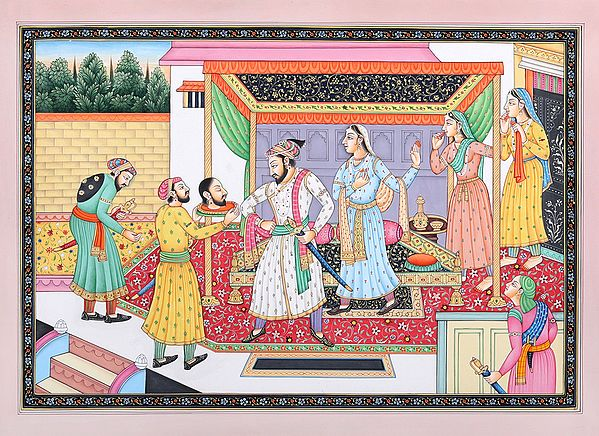 Aurangzeb Inspecting The Chopped Off Head of His Brother Dara Shikoh