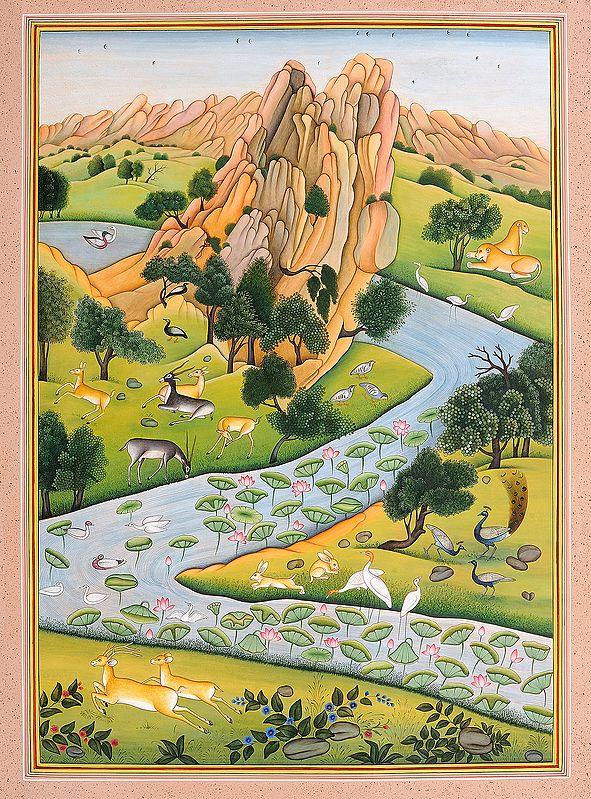 Co-existence: A Landscape Based on the Panchatantra and Gita-Govinda