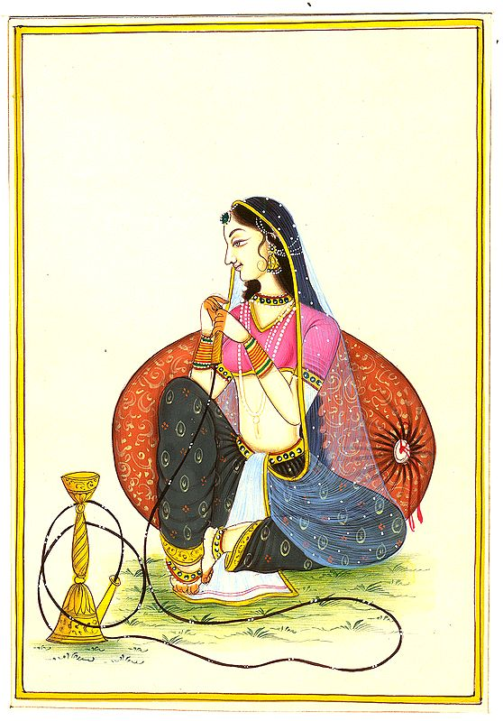 Lady with Hookah